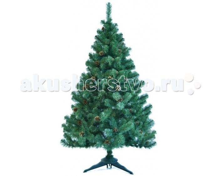 Купить Искусственные елки, Царь Елка Ель искусственная Холидей с шишками 210 см