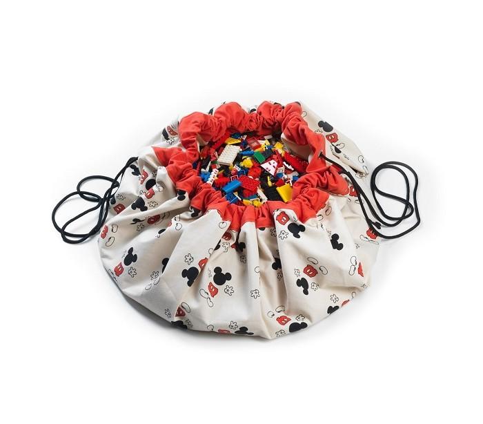 Купить Ящики для игрушек, Play&Go 2 в 1: мешок Disney Mickey Cool для хранения игрушек и игровой коврик