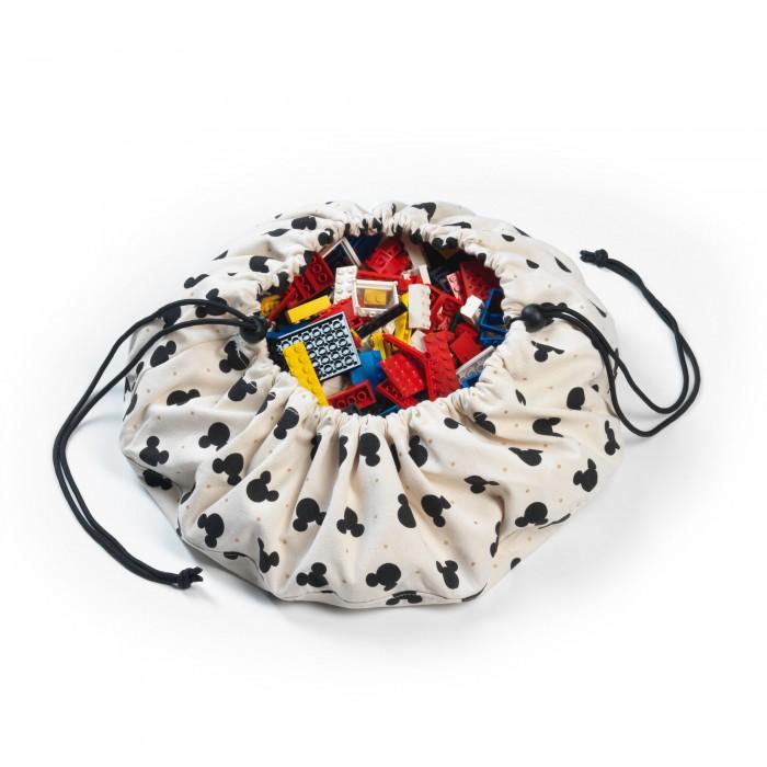 Купить Ящики для игрушек, Play&Go 2 в 1: мини-мешок Disney Mini Mickey для хранения игрушек и игровой коврик 40 см