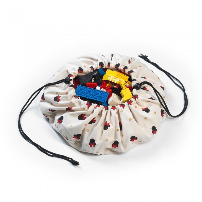 Купить Ящики для игрушек, Play&Go 2 в 1: мини-мешок Disney Mini Minnie для хранения игрушек и игровой коврик 40 см