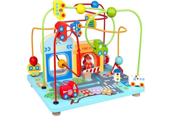 Деревянная игрушка Tooky Toy Лабиринт Транспорт TKF066