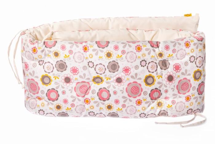 Бортик в кроватку HoneyMammy подушки Pink Bubbles