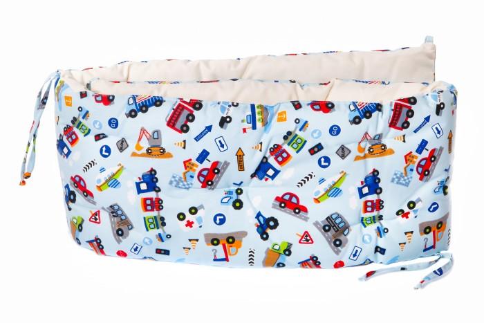 Бортик в кроватку HoneyMammy подушки City Cars