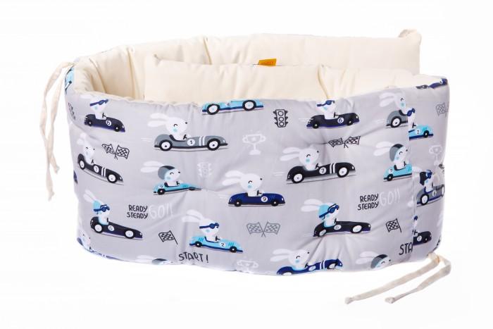 Бортик в кроватку HoneyMammy подушки Grey Cars