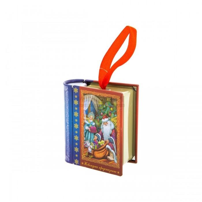 Елочные игрушки FP Новогоднее елочное украшение Книга с пожеланием внутри елочное украшение золотой завиток 30 см