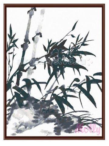 Картины по номерам Molly Картина по номерам Ветки бамбука 40х50 см molly мозаичная картина зеленая долина 40х50 см