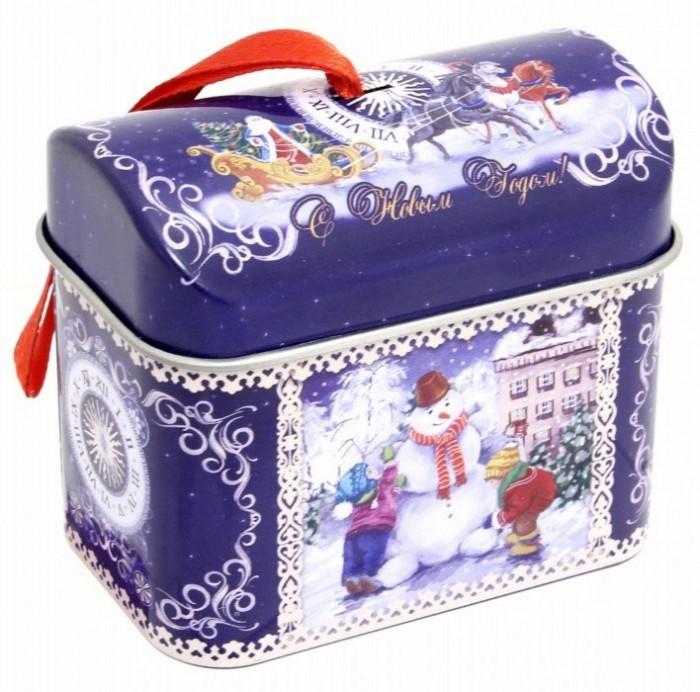 Елочные игрушки FP Новогоднее елочное украшение Сундучок с пожеланием внутри новогоднее подвесное украшение маскарад