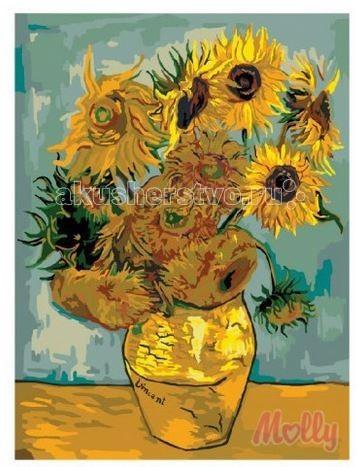 Картины по номерам Molly Картина по номерам Подсолнухи Ван Гог 40х50 см наборы для рисования цветной картины по номерам утренние подсолнухи
