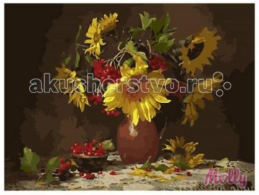 Картины по номерам Molly Картина по номерам Увядающий букет 40х50 см наборы для рисования цветной картины по номерам букет розовых цветов