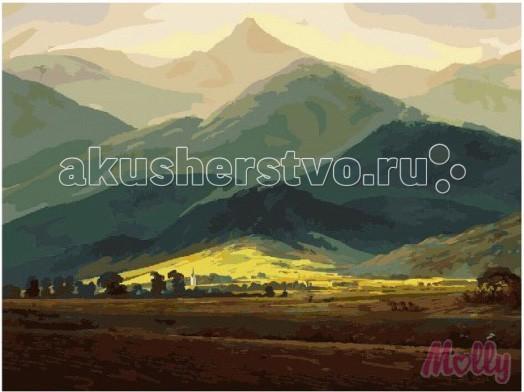 Картины по номерам Molly Картина по номерам Горный пейзаж 40х50 см картины в квартиру картина etude 2 102х130 см