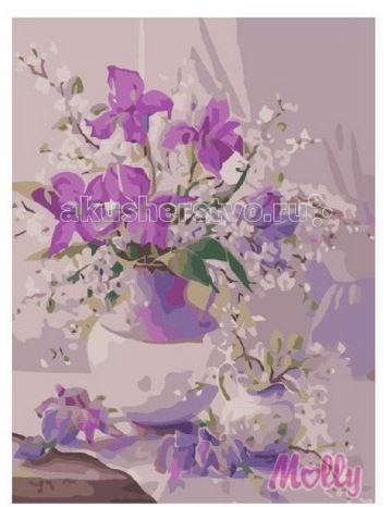 Картины по номерам Molly Картина по номерам Утренний букет 40х50 см наборы для рисования цветной картины по номерам букет розовых цветов