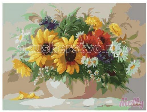 Картины по номерам Molly Картина по номерам Полевые цветы 40х50 см картины в квартиру картина etude 2 102х130 см