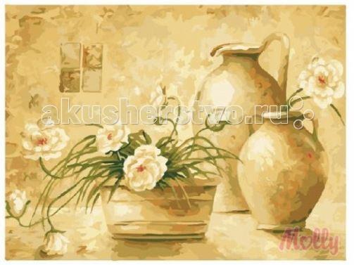 Картины по номерам Molly Картина по номерам Натюрморт в пастельных тонах 40х50 см картины в квартиру картина etude 2 102х130 см
