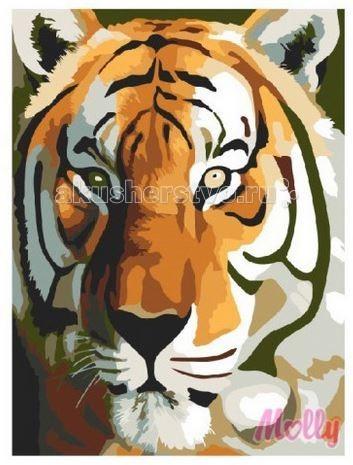 Картины по номерам Molly Картина по номерам Тигр 40х50 см картины в квартиру картина etude 2 102х130 см