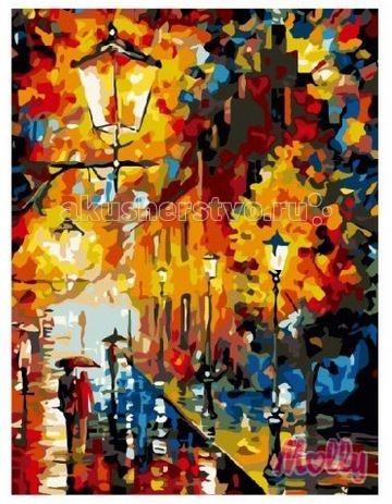 Картины по номерам Molly Картина по номерам Осенние фонари 40х50 см картины в квартиру картина etude 2 102х130 см