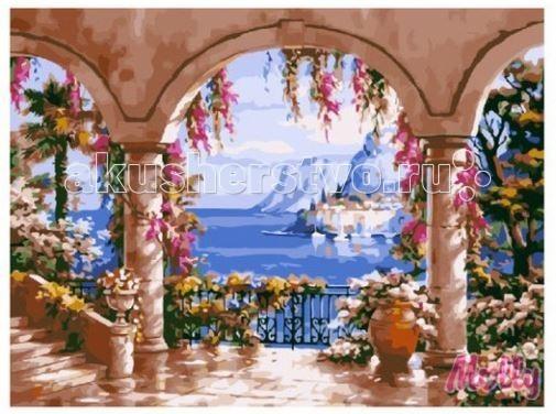 Картины по номерам Molly Картина по номерам Вид с террасы 40х50 см картины в квартиру картина etude 2 102х130 см