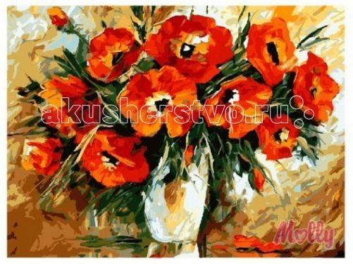 Картины по номерам Molly Картина по номерам Букет для любимой 40х50 см картины в квартиру картина etude 2 102х130 см