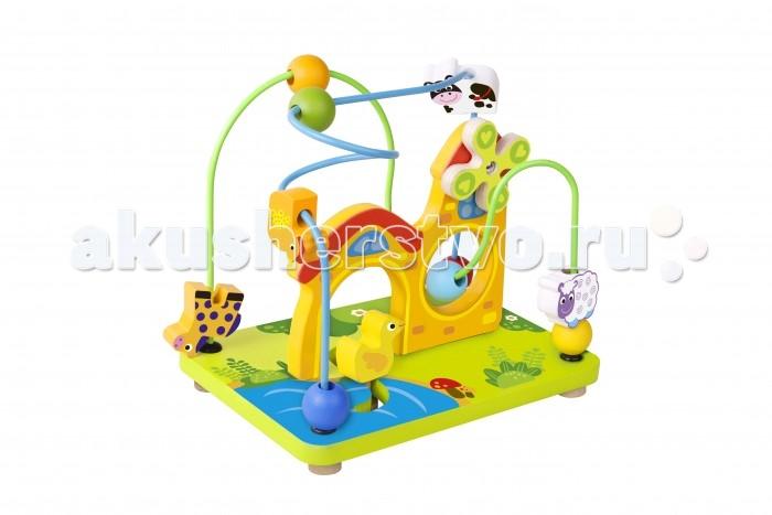 Деревянная игрушка Tooky Toy Лабиринт Ферма TKF067