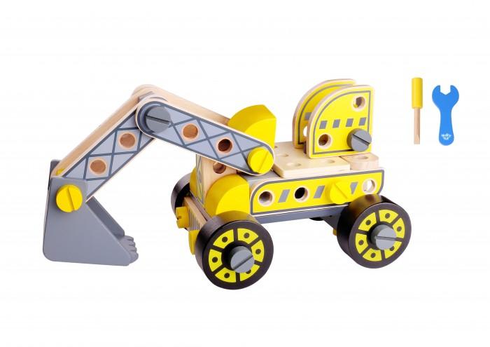 Деревянная игрушка Tooky Toy Конструктор Экскаватор