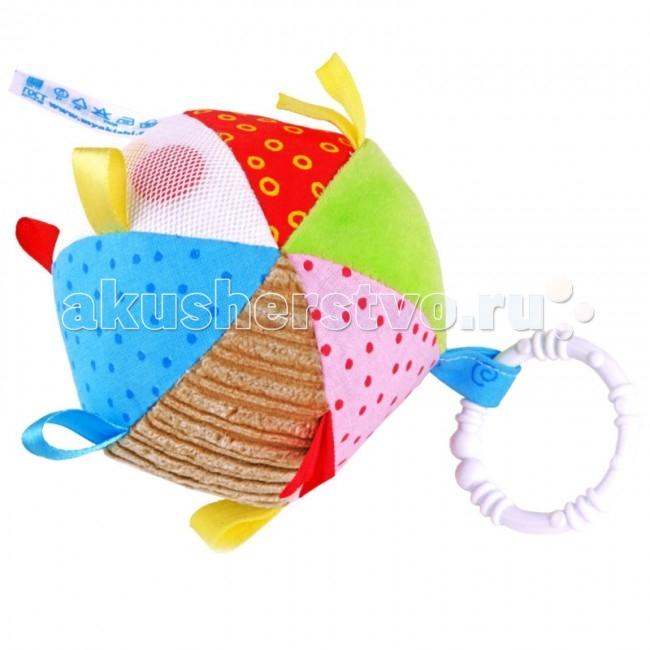 Подвесные игрушки Мякиши Мячик с петельками игрушка погремушка мякиши медвежонок колечко