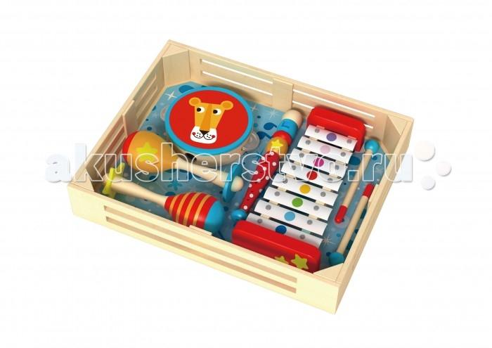 Деревянные игрушки Tooky Toy Набор музыкальных инструментов TKH003