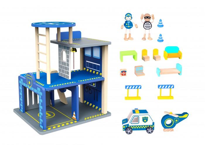 Деревянная игрушка Tooky Toy Набор Полиция TKI002