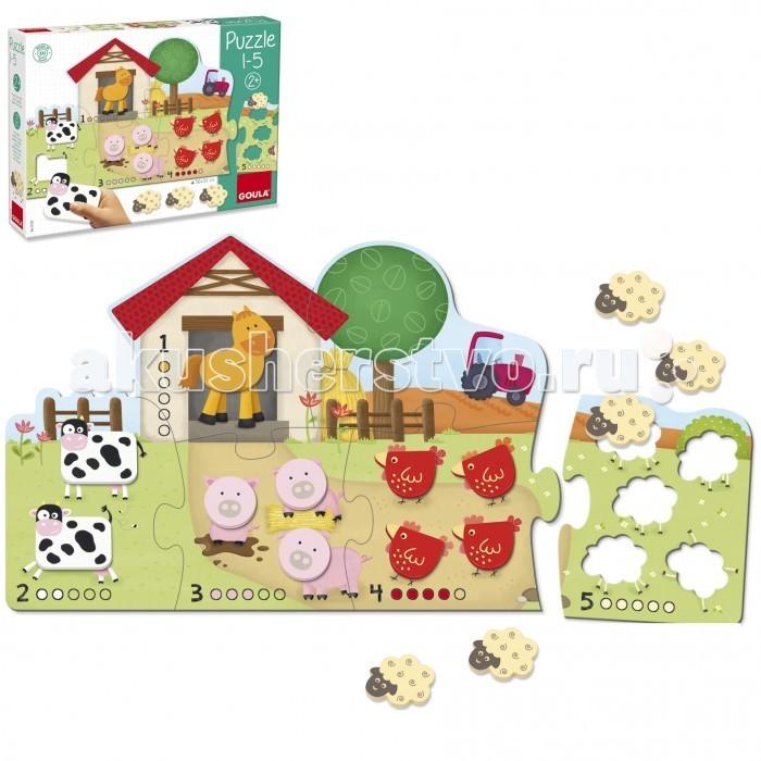 Картинка для Деревянные игрушки Goula Пазл 1 - 5