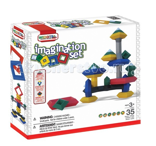 Конструктор Wedgits Imagination Set 35 деталей