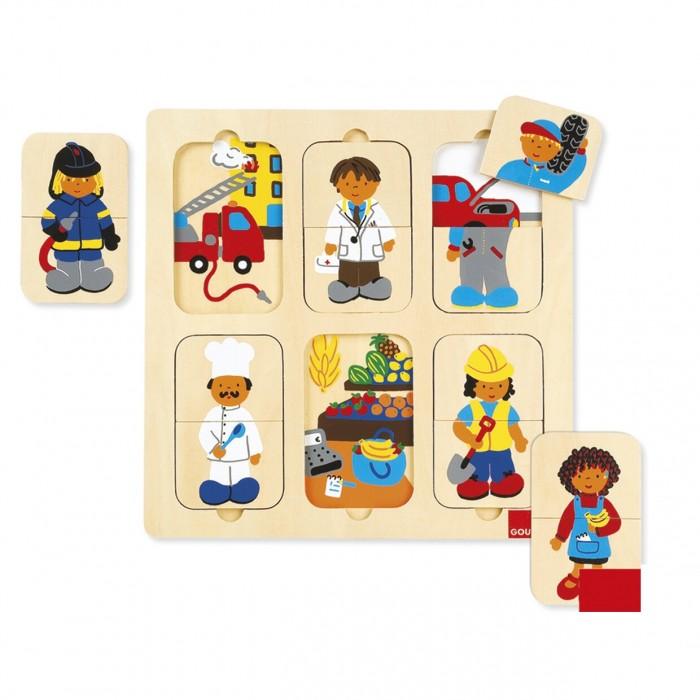Картинка для Деревянные игрушки Goula Пазл Профессии