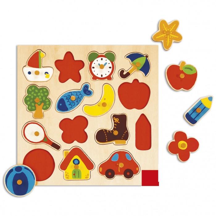 Деревянная игрушка Goula Рамка-вкладыш Силуэты фото