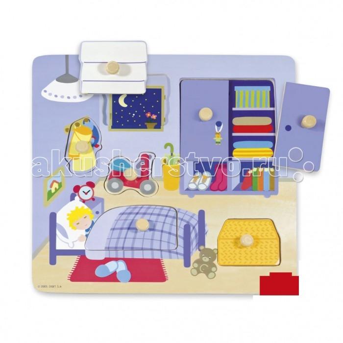 Деревянная игрушка Goula Рамка-вкладыш Спальня