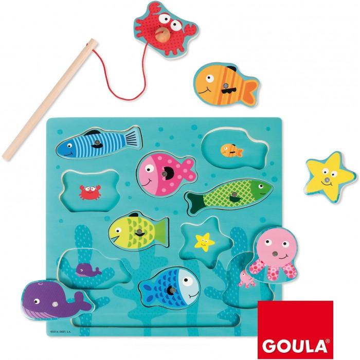Купить Деревянные игрушки, Деревянная игрушка Goula Магнитная игра Рыбки