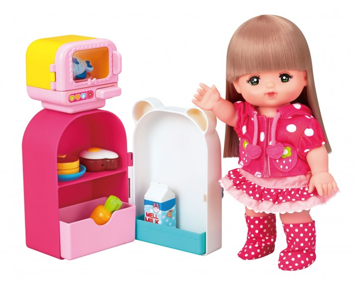 Кукольные домики и мебель Kawaii Mell Микроволновка с холодильником для Милой Мелл