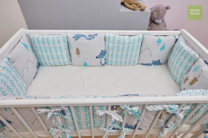 Бортик в кроватку Mama Relax Лисички в лесу (12 предметов)