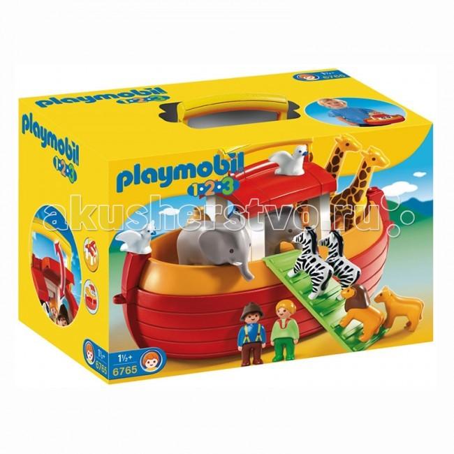 Конструктор Playmobil Возьми с собой. Ноев КовчегВозьми с собой. Ноев КовчегУвлекательный набор с множеством фигурок животных. Возьми с собой. Ноев Ковчег станет одной из самых любимых игрушек малыша.  Это интересные игровые наборы Playmobil из Библейских преданий.  Теперь у ребенка есть лодка, в которой спасутся от наводнения многие животные.   Построен ковчег так, что в нем поместятся люди и животные.  Ребенку нужно помочь каждому найти свое место и разместиться в лодке.  Слоны и жирафы уже помещены в свои отделения, а зебры и львы только начинают свой подъем на палубу, им нужно найти место, чтобы было удобно.   В конструкторы вошел большой ковчег со слонами, жирафами, зебрами, семейством львов, голубями на крыше, двумя фигурками людей. Ребенок сможет спасти всех животных в построенном Ноем Ковчеге, он каждому найдет место и разместит с удобством, а дальше большая лодка поплывет по волнам.   Читая Библейские истории ребенку, Вы познакомите его с древними легендами, и, играя, ребенок будет воспроизводить услышанное и развиваться.  Игрушка от Playmobil учит ребенка анализировать услышанное и воспроизводить его, учит быть внимательным, иметь хорошую память и пользоваться своим воображением, так же учит быть порядочным и честным.  Продукция сертифицирована, экологически безопасна для ребенка, использованные красители не токсичны и гипоаллергенны.<br>