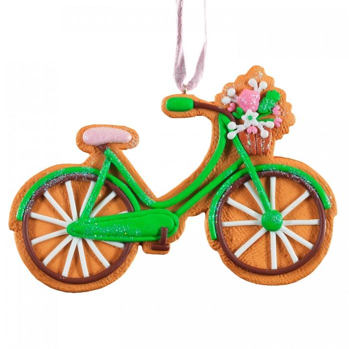 Елочные игрушки Erich Krause Украшение Пряничный велосипед 11 см
