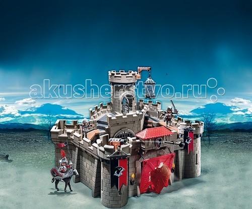 Конструктор Playmobil Рыцари: Замок Рыцарей ЯстребаРыцари: Замок Рыцарей ЯстребаРыцари: Замок Рыцарей Ястреба – набор, который позволит организовать интересную игру с таинственным замком.  Игровые наборы Playmobil содержат в себе много таинственного.  В замке есть встроенные в стены потайные лестницы.  Одну стену можно поднять, используя кран и открыть проход в подземелье, в котором хранятся несметные сокровища.   В другом подземелье есть комната в виде тюрьмы с прочной клеткой.  В него можно посадить злобного тролля, который будет охранять вход.  Используя конструкторы и разные части из других наборов, можно придумать настоящее приключение.   В замке есть подъемный мост, через который враг пытается проникнуть в середину.  Рыцари во главе со своим королем отважно защищают замковые стены и не пропускают врага в середину.  В наборе от Playmobil большой укрепленный замок, король и защитники, а также карлик на коне.   Карлик не может удержаться в седле и постоянно падает из него.  Этот конь великоват для отважного низкорослого человечка, который вместе со всеми старается защищать стены замка.  Если ребенок захочет поиграть в подземелье, стены замка можно убрать.  На стены можно установить светодиодные факелы (арт. 6160pm), два из них можно закрепить снаружи на воротах замка и возле решеток ворот, ведущих в середину строения.  Набор развивает воображение у ребенка, он учится быть смелым и отважным.  Продукция сертифицирована, экологически безопасна для ребенка, использованные красители не токсичны и гипоаллергенны.<br>
