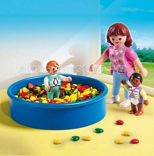 Конструкторы Playmobil Детский сад: Игровая площадка с шариками playmobil 5266 summer fun детский клуб с танц площадкой