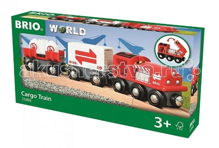 Фото - Железные дороги Brio Игровой набор Грузовой поезд набор игровой brio супер делюкс город 106 деталей