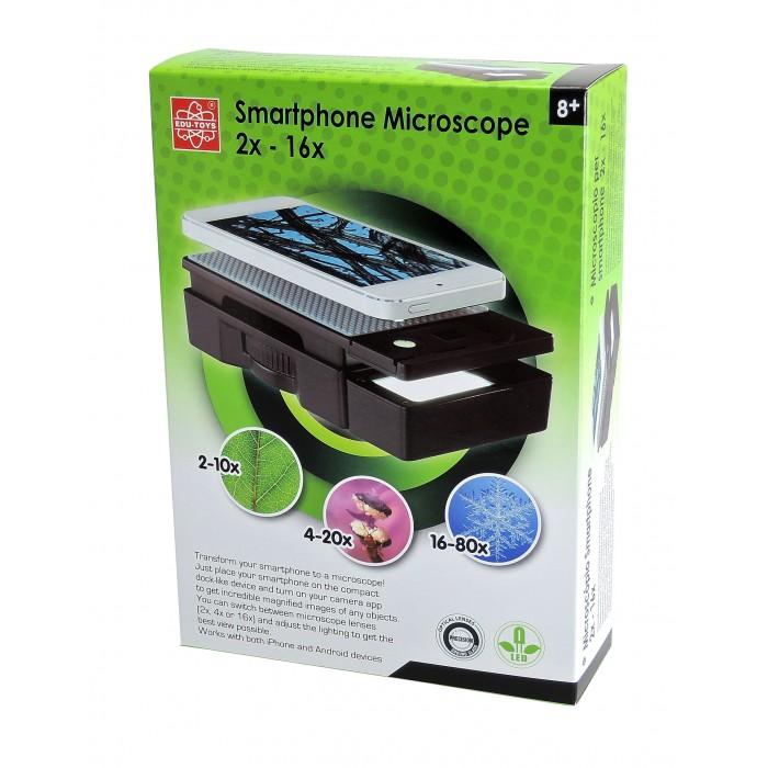 Фото - Наборы для опытов и экспериментов Edu-Toys Микроскоп для смартфона микроскоп edu toys ms907 серебристый