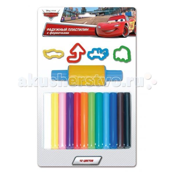 Всё для лепки Multiart Классический восковый  Disney Тачки 12 цветов играем вместе пластилин в ведре тачки 7 цветов