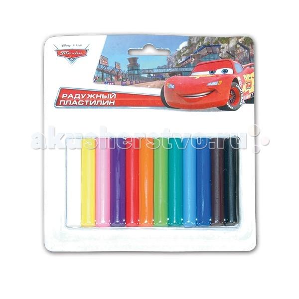Всё для лепки Multiart Пластилин Disney тачки 12 цветов играем вместе пластилин в ведре тачки 7 цветов