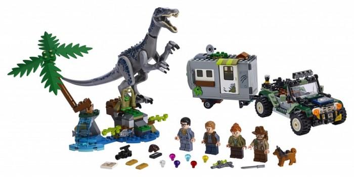 Конструктор Lego Jurassic World Поединок с бариониксом: охота за сокровищами