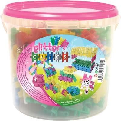 Конструктор Clics Ведро 175 деталей с блесткамиВедро 175 деталей с блесткамиКонструктор Clics Ведро 175 деталей с блестками - станет чудесным подарком для юной леди, особенно если она любит фантазировать, конструировать и мечтает стать архитектором!   Детали Clics ярких волшебных цветов с блестками - это новейшая разработка в области игрушек. Теперь ваши постройки будут сиять!   Модели, собранные из Clics отличаются своей прочностью, простотой и быстротой сборки и при этом их можно перестраивать тысячи раз! Сам процесс конструирования становиться не только интересным для ребенка, но и полезным с точки зрения развития академических способностей. Ребенок может строить бесконечные забавные модели руководствуясь своей фантазией или по прилагаемой инструкции: от маленькой птички до веселой собачки, от стульчика для куклы до целого дома для нее.   В наборе: 144 элементов КЛИКС с блестками, 4 пирамидки, 12 колес, 9 осей, 2 фаркопа, 2 элемента с глазами, 1 передние фары для машинки, 1 задние фонари для машинки.   Размер деталей: 3 х 5 см<br>
