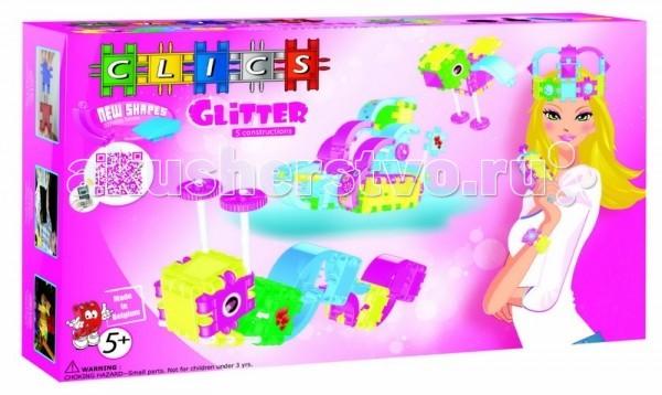 Конструкторы Clics с блестками для девочек 100 деталей для девочек на 100%