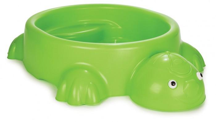 Pilsan Песочница ЧерепахаПесочница ЧерепахаPilsan Песочница Черепаха - выполнена в виде черепахи с фигурными лапками и головой, может быть наполнена и водой, и песком.   Песочница-бассейн Черепашка - небольшая конструкция и вы с легкостью можете установить ее в помещении, на свежем воздухе - возле дома, в саду, на пляже или в любом другом месте.   Можно применять не только на улице, но и в помещении, а в качестве наполнителя использовать не песок, а пластиковые шары. Получится настоящий сухой бассейн. Этот вариант подойдет как дома, так и для игровых комнат в детских садах и для организации детских уголков в торговых предприятиях.   Песочница-бассейн отвечает европейским требованиям безопасности. Изготовлена из упрочненного пластика, который выдерживает морозы до -25 градусов и не выгорает на солнце. Острые углы и грани отсутствуют.<br>
