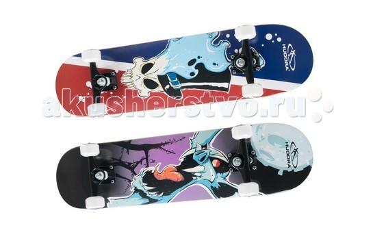 Hudora Скейтборд Skill ABEC 7Скейтборд Skill ABEC 7Hudora Скейтборд Skill ABEC 7 для занятия скейтбордингом или просто катания от 7 лет.   Особенности: Доска изготовлена из высококачественного 7 слойного канадского клёна Лента анти-скольжения (гриптейп), резиновый коврик Двухсторонний дизайн Колёса диаметром 36 мм х 54 мм Подшипники - abec 7, хромированные, грязезащитная крышка с обеих сторон Размеры: 77,5 см х 19,7 см Максимальный вес пользователя 100 кг<br>