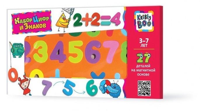 Раннее развитие Kribly Boo Набор цифр и знаков магнитные 27 деталей