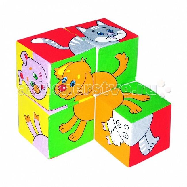 Развивающие игрушки Мякиши Кубики Собери картинку Домашние животные 4 шт. фигурки игрушки s s домашние животные 5 шт