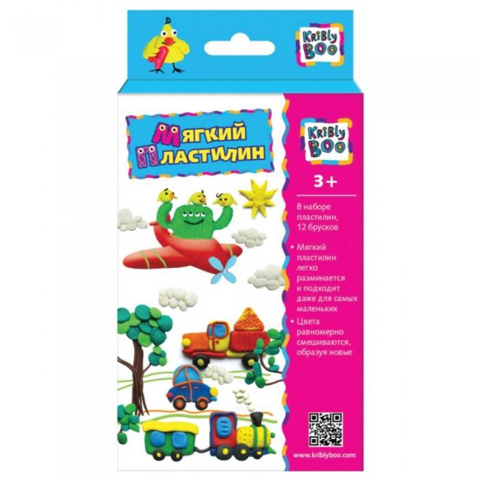 Пластилин Kribly Boo для детской лепки 6 цветов 125 гр 12 шт.
